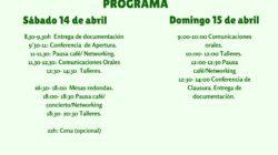 Cartel y Programa Jornadas Musicoterapia en Primavera, Gijón.